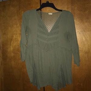 Army Green Hollister Blouse